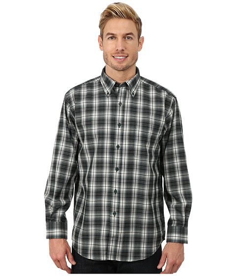 Pendleton - Long Sleeve Sir Pen Button Down Shirt (Green/Grey Ombre) Men