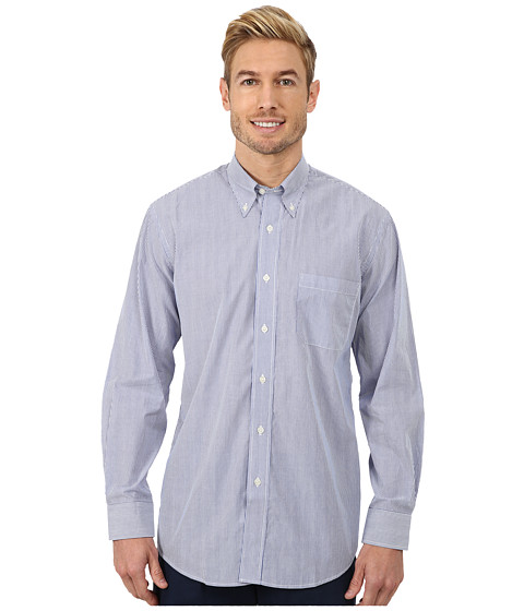 Pendleton - Long Sleeve Bridgeport Shirt (Blue Stripe) Men's Clothing