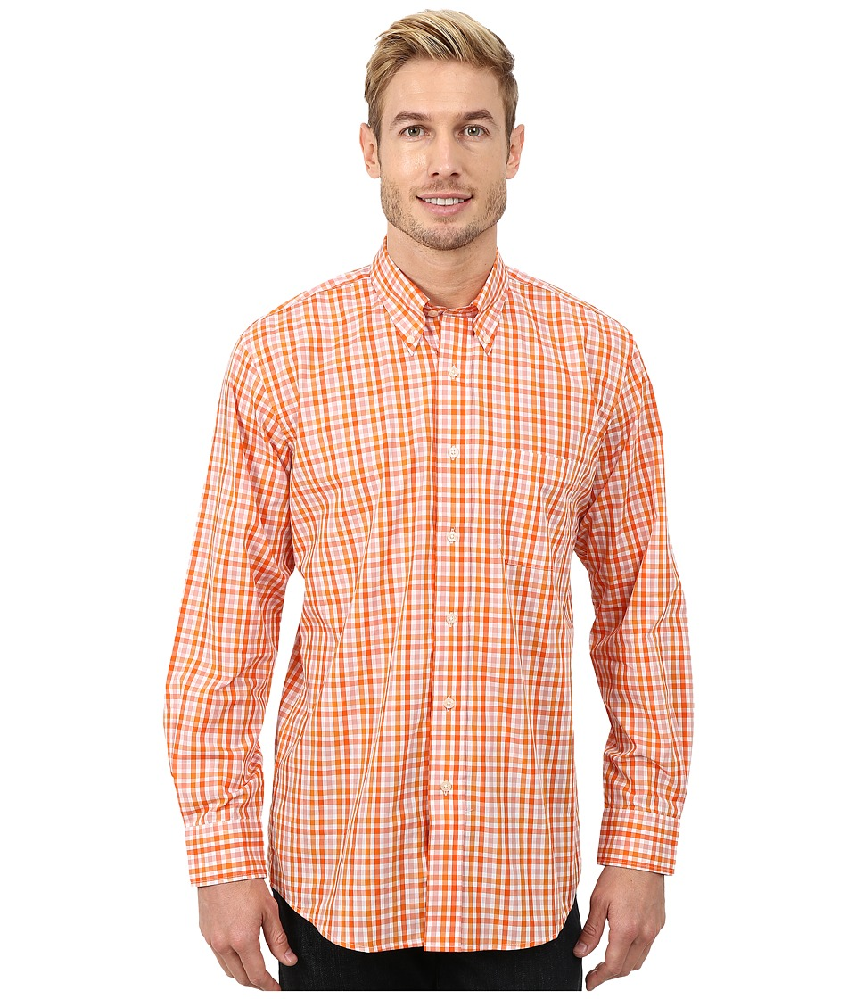 Pendleton - Long Sleeve Bridgeport Shirt (Orange Multi Check) Men's Clothing