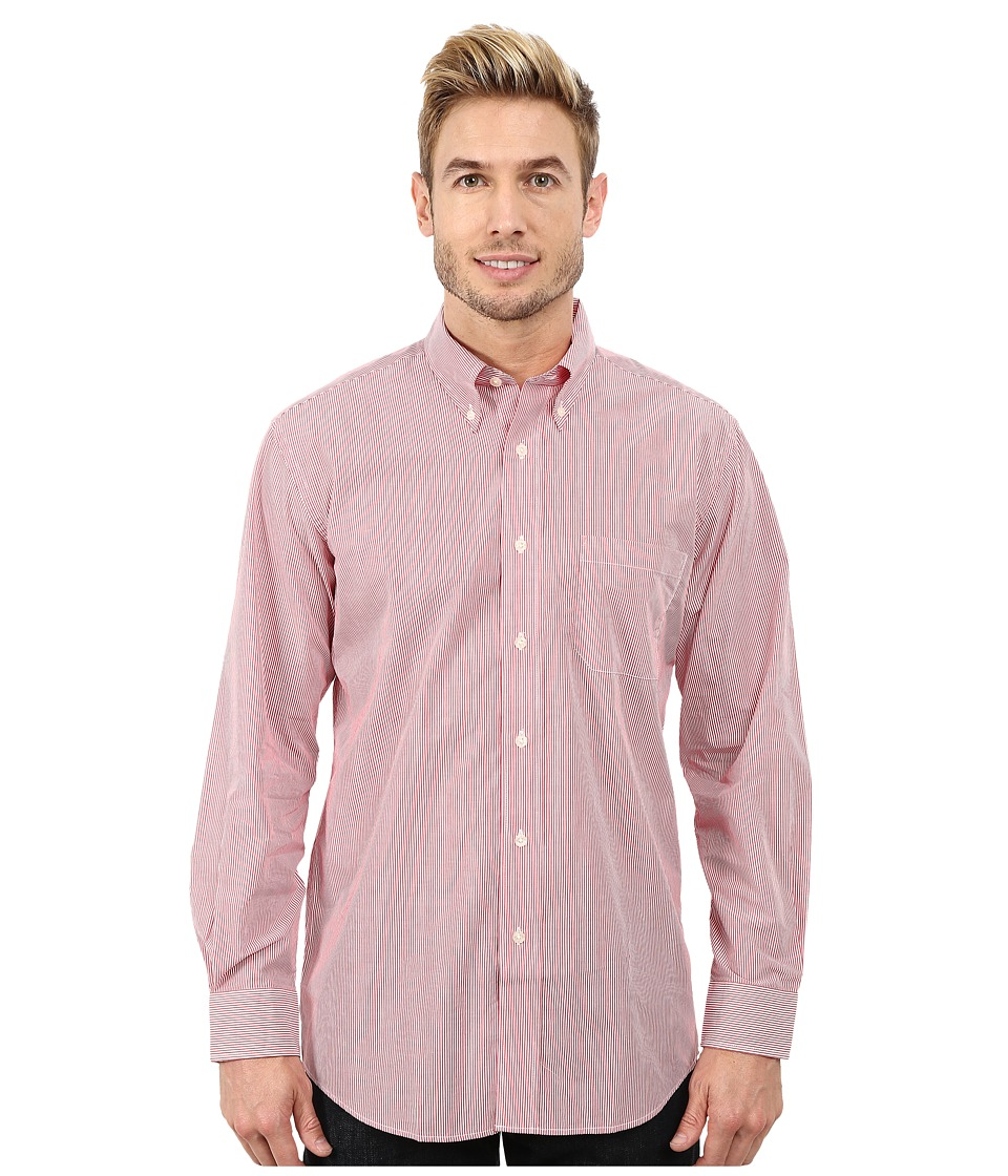Pendleton - Long Sleeve Bridgeport Shirt (Salmonberry Stripe) Men's Clothing