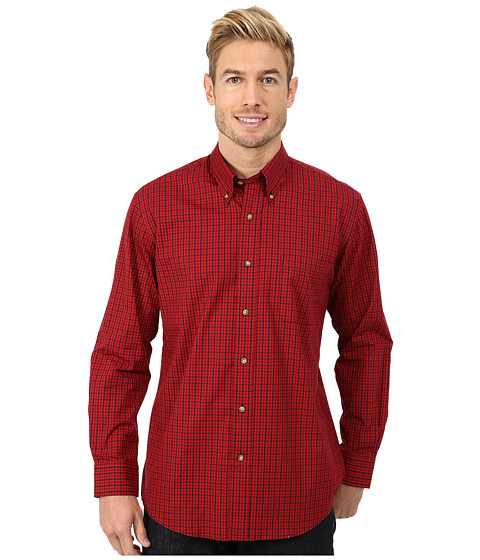 Pendleton - Long Sleeve Broadway Button Down Shirt (Red/Navy Check) Men