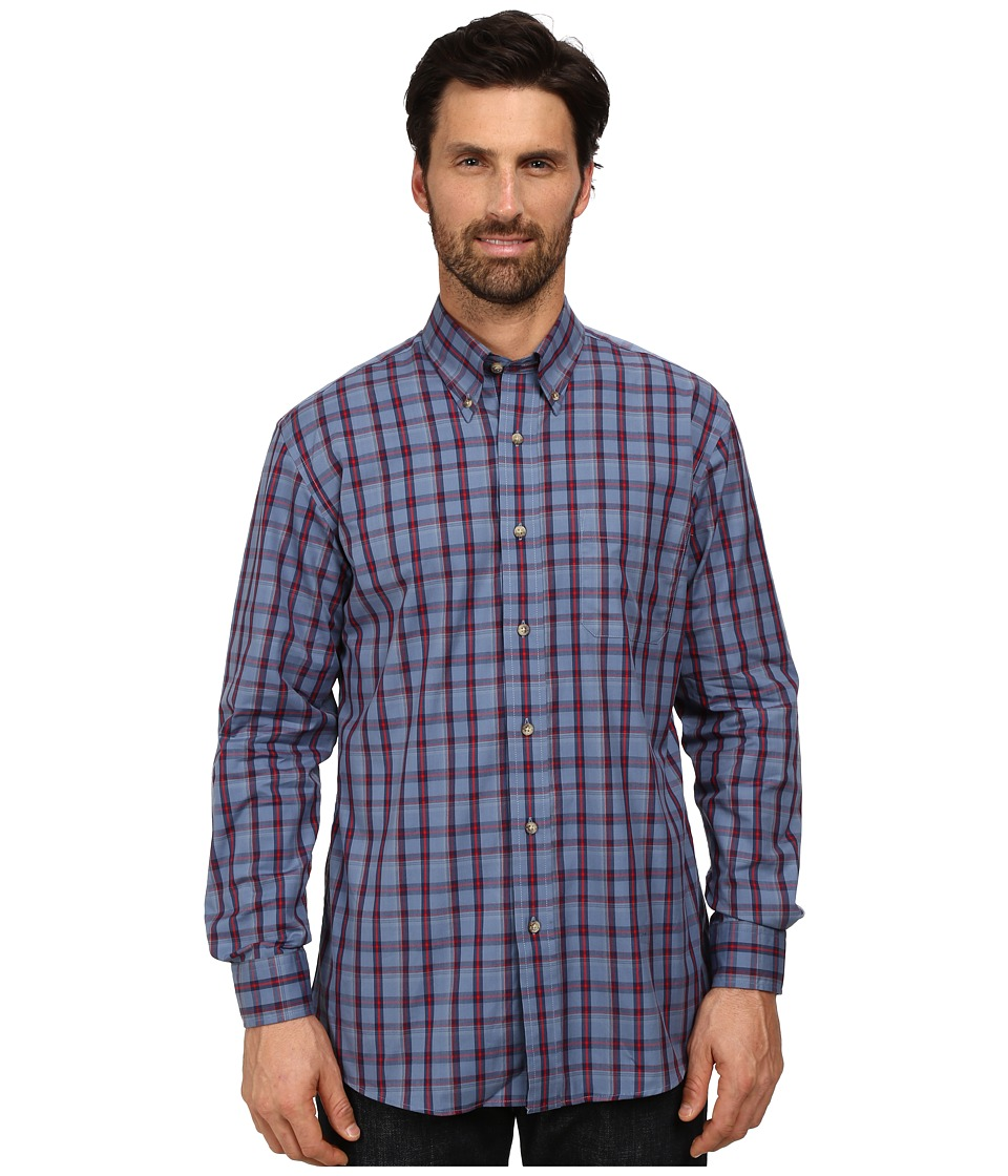 Pendleton - Long Sleeve Broadway Button Down Shirt (Blue/Red Plaid) Men's Long Sleeve Button Up