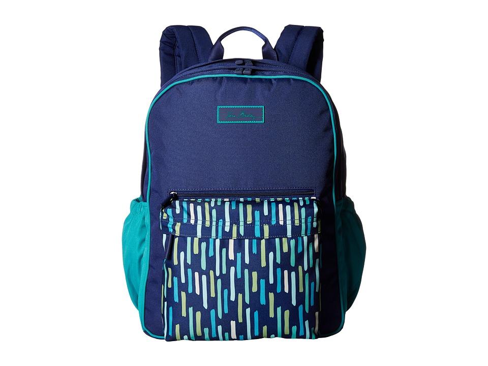 Vera Bradley Large Color Block Backpack (Katalina Showers) Backpack Bags