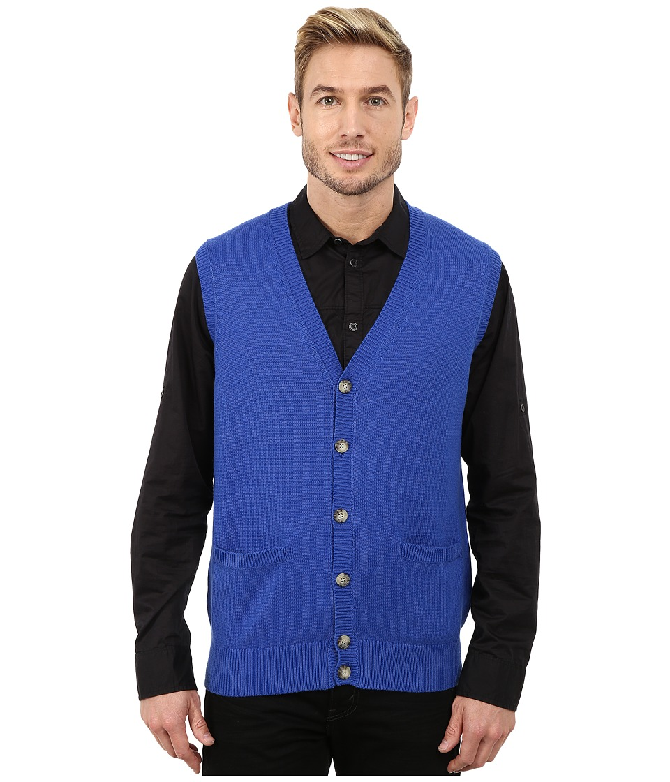 Pendleton - Cardigan Vest (Bright Blue) Men