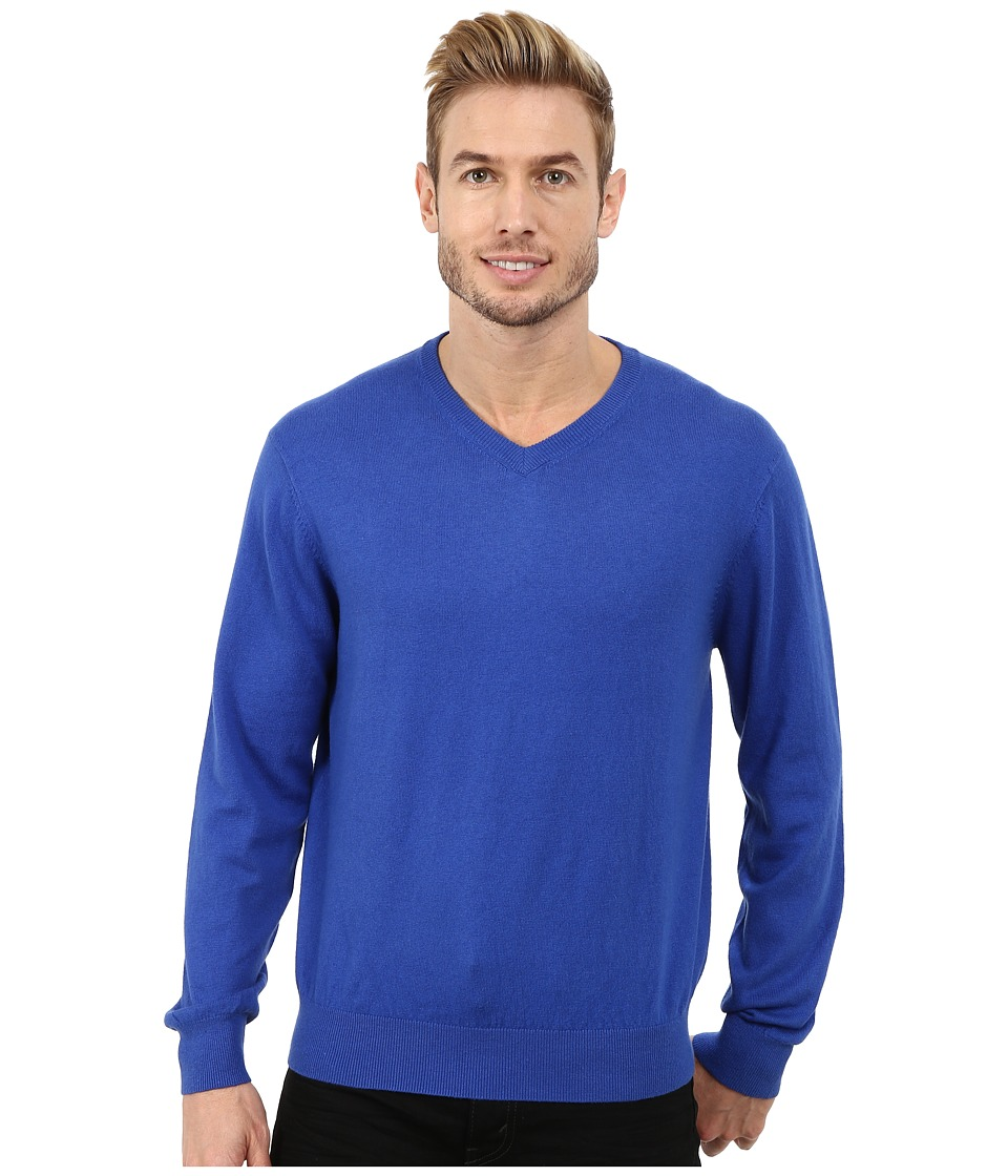 Pendleton - Long Sleeve Vee (Bright Blue) Men's Long Sleeve Pullover