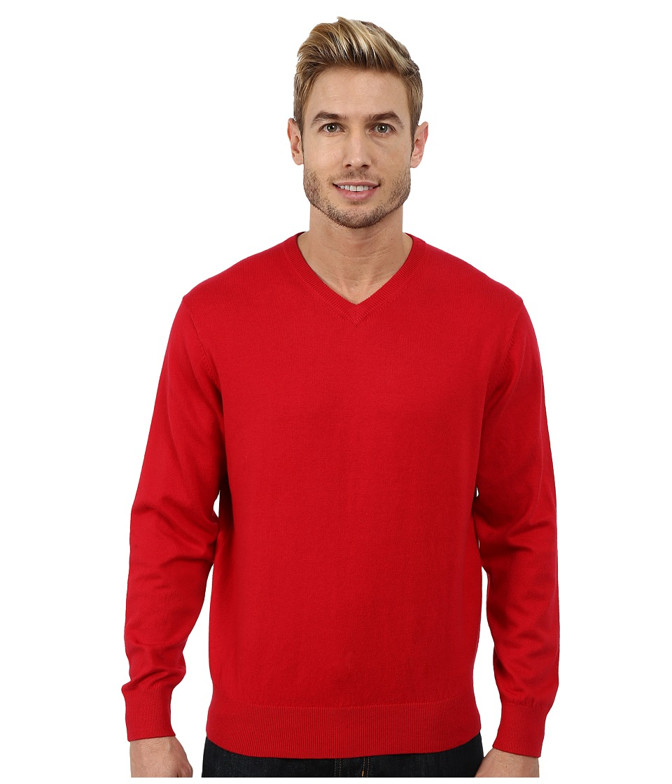 Pendleton - Long Sleeve Vee (Salmonberry) Men