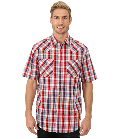 Pendleton - Short Sleeve Frontier Shirt (Red/White/Navy Plaid) Men