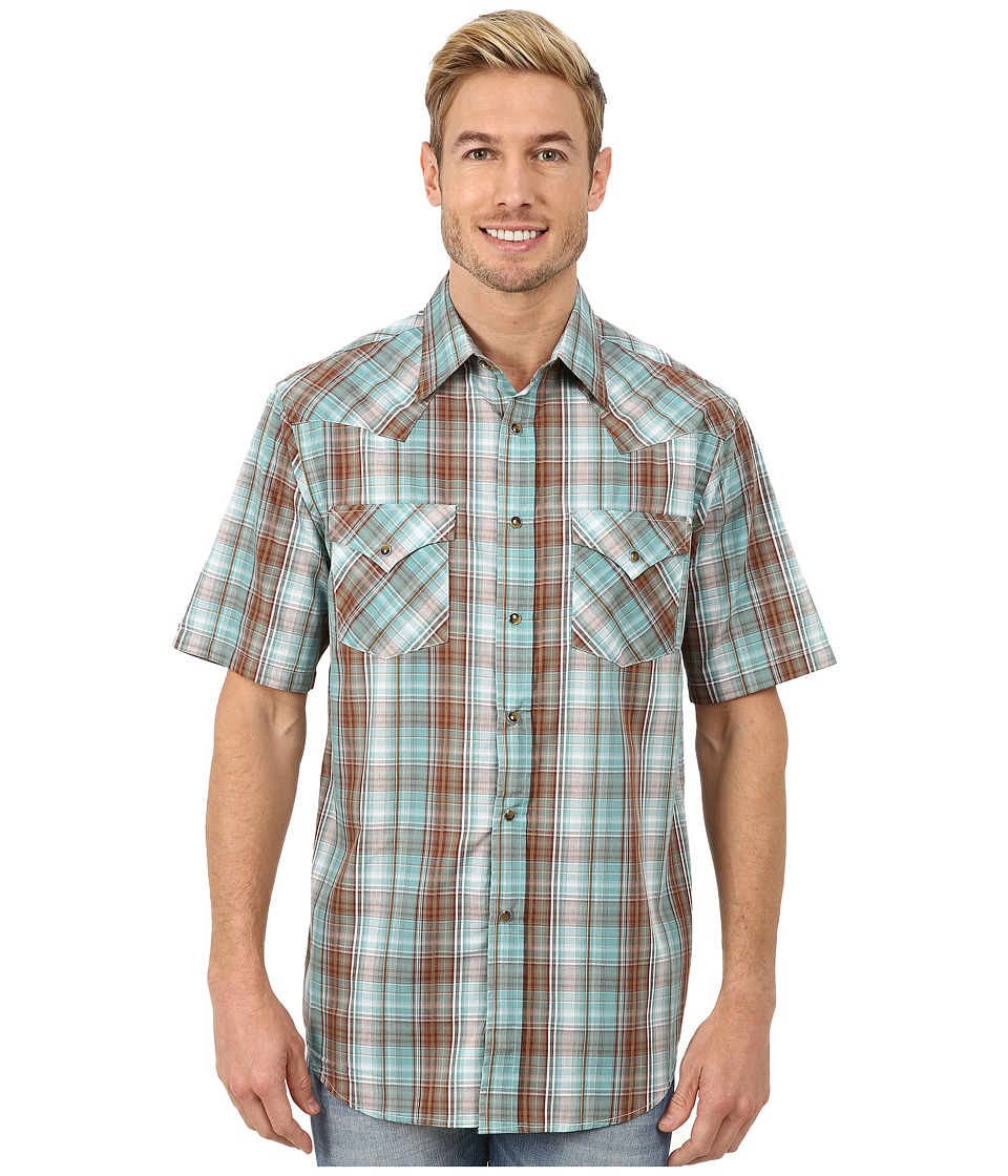 Pendleton - Short Sleeve Frontier Shirt (Turquoise/Brown Ombre) Men