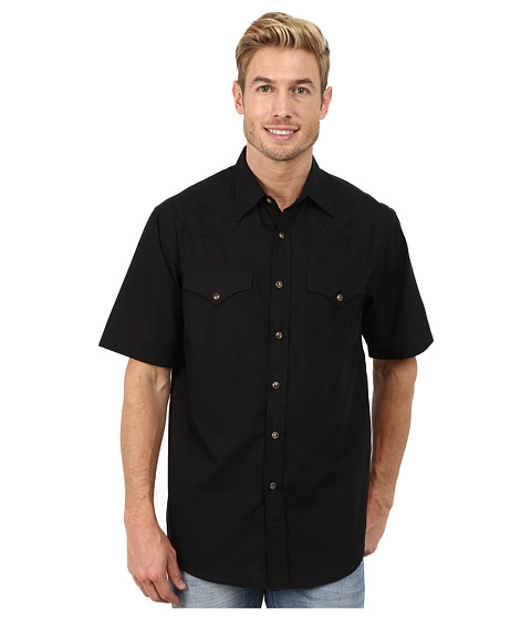 Pendleton - Short Sleeve Frontier Shirt (Black) Men's Short Sleeve Pullover