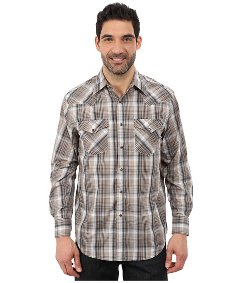 Pendleton - Long Sleeve Frontier Shirt (Black/Grey Ombre) Men's Long Sleeve Pullover
