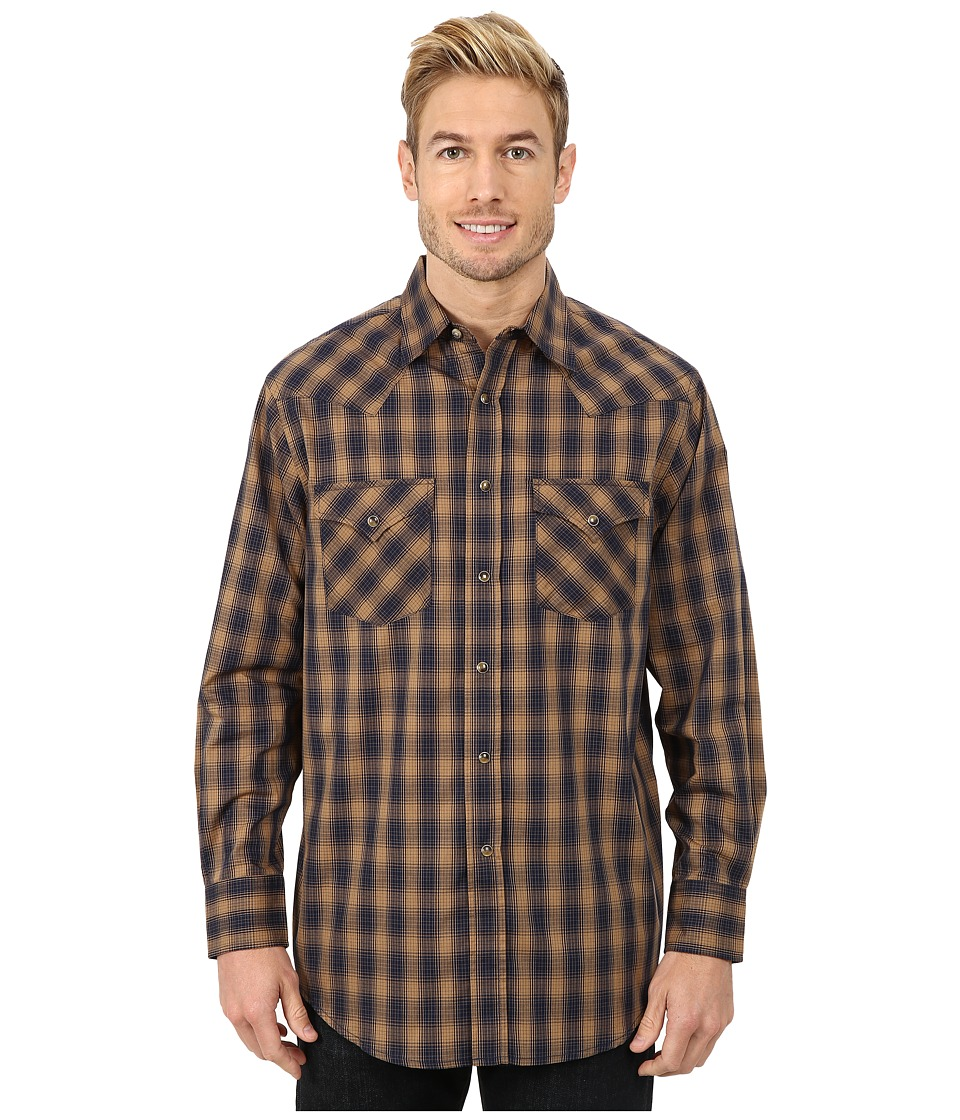 Pendleton - Long Sleeve Frontier Shirt (Navy/Brown Ombre) Men