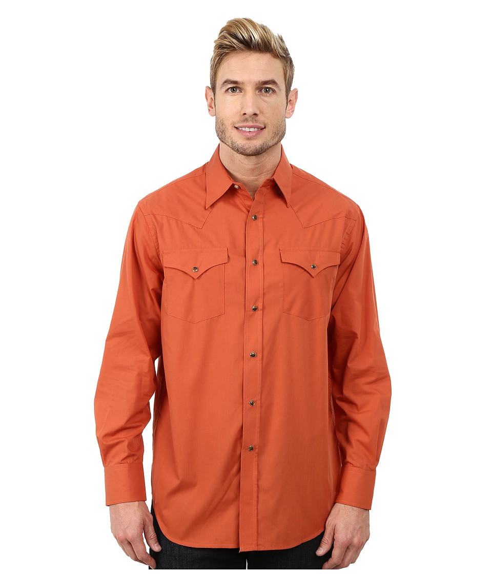 Pendleton - Long Sleeve Frontier Shirt (Copper) Men's Long Sleeve Pullover