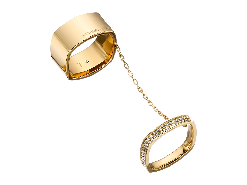 Michael Kors - Cushion Banded - Wide Ring (Gold) Ring