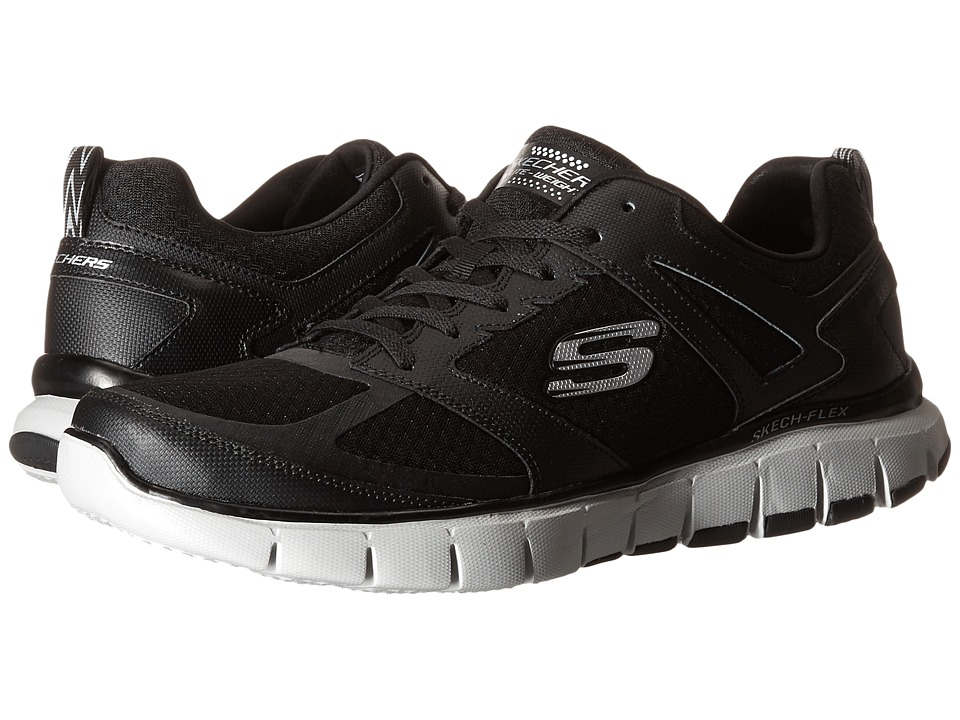 SKECHERS - Skech-Flex Power Alley (Black/Gray) Men's Shoes