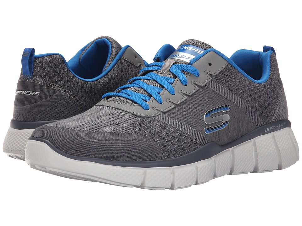 SKECHERS - Equalizer 2.0 True Balance (Gray/Blue) Men's Shoes