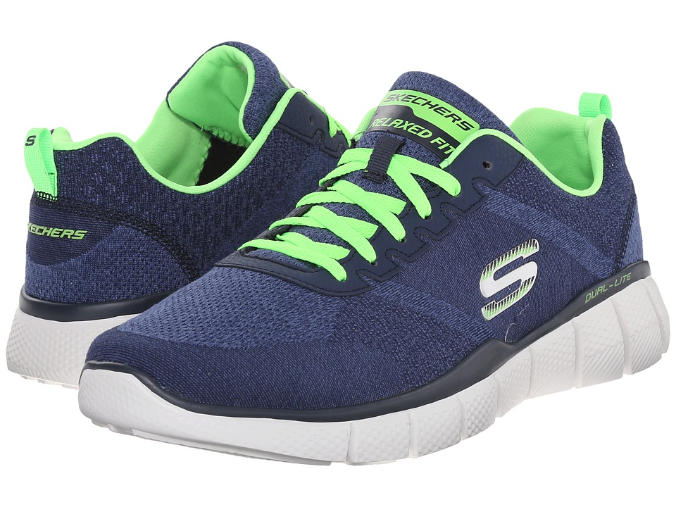SKECHERS - Equalizer 2.0 True Balance (Navy/Lime) Men's Shoes
