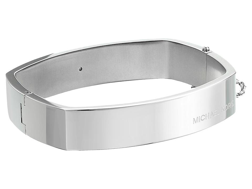Michael Kors - Cushion Bangle - Hinge Bracelet (Silver) Bracelet
