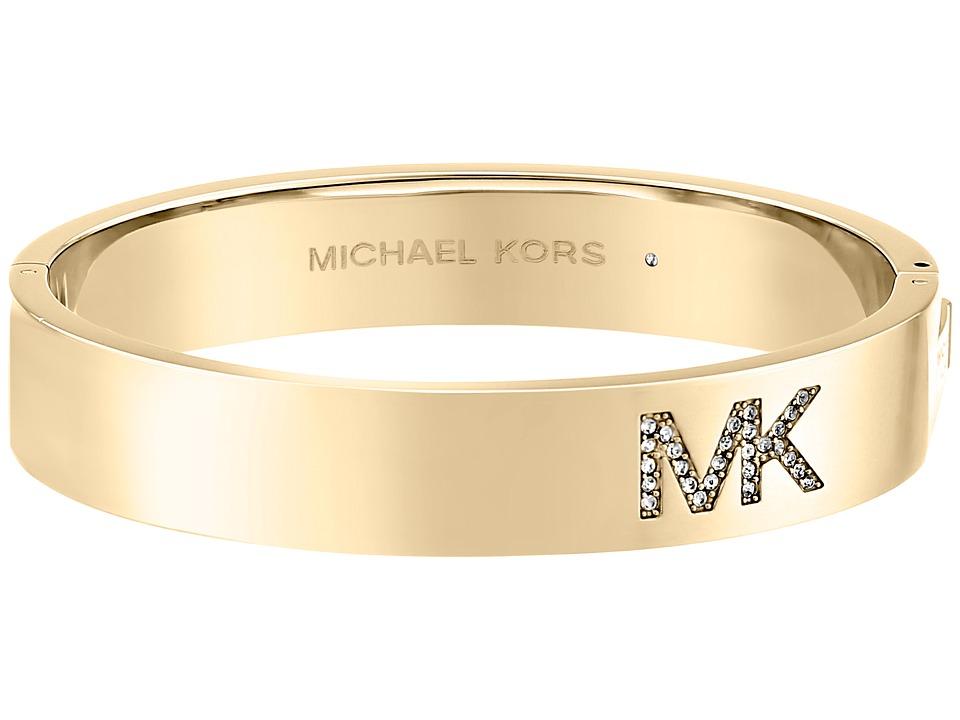 Michael Kors - Logo Bangle - Hinge Bracelet (Gold) Bracelet