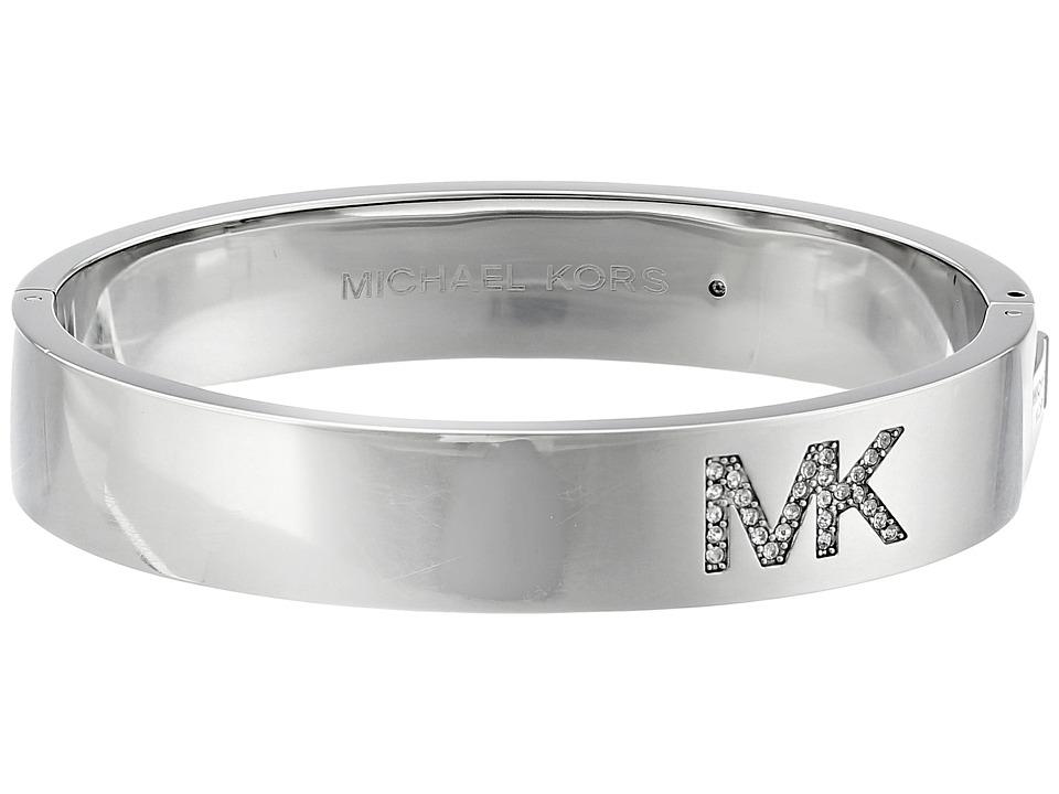Michael Kors - Logo Bangle - Hinge Bracelet (Silver) Bracelet