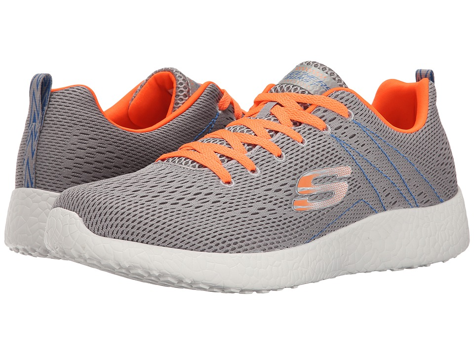 SKECHERS - Energy Burst Second Wind (Light Gray/Orange) Men's Shoes