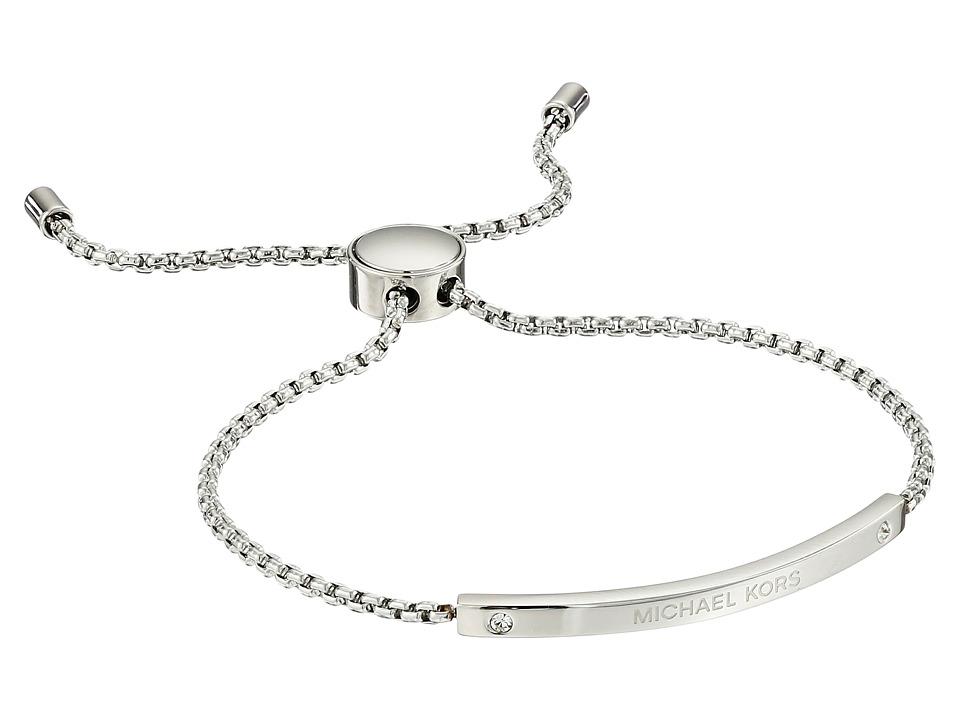 Michael Kors - Logo Bracelet - Slider Bracelet (Silver) Bracelet