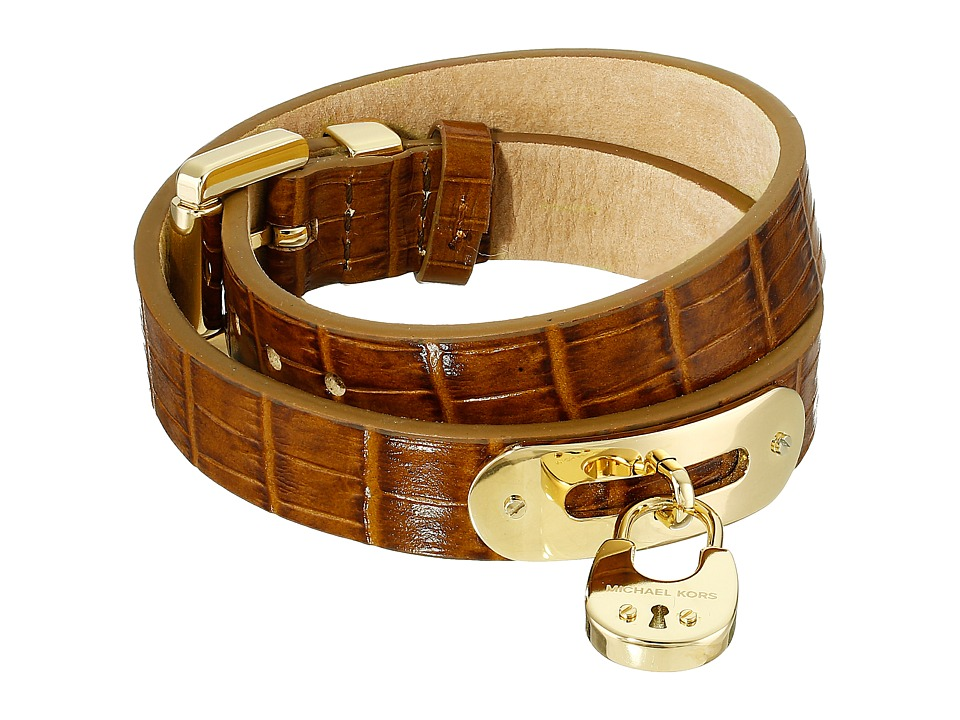 Michael Kors - Padlock Bracelet - Double Wrap Bracelet (Gold 1) Bracelet