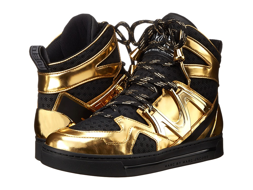 Marc by Marc Jacobs - Ninja Hi-Top Sneaker (Black/Gold) Women's Shoes