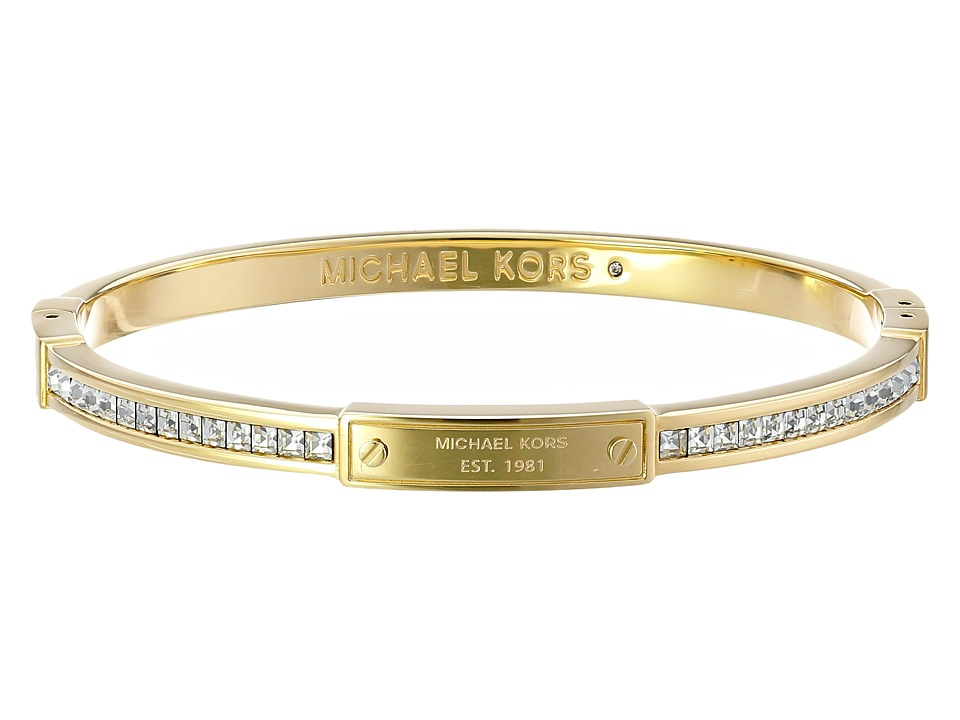 Michael Kors - Park Avenue Glam Bangle - Hinge Bracelet (Gold 1) Bracelet