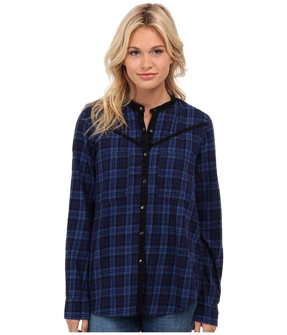 Blank NYC - Plaid Shirt (Blue/Black) Women's Clothing