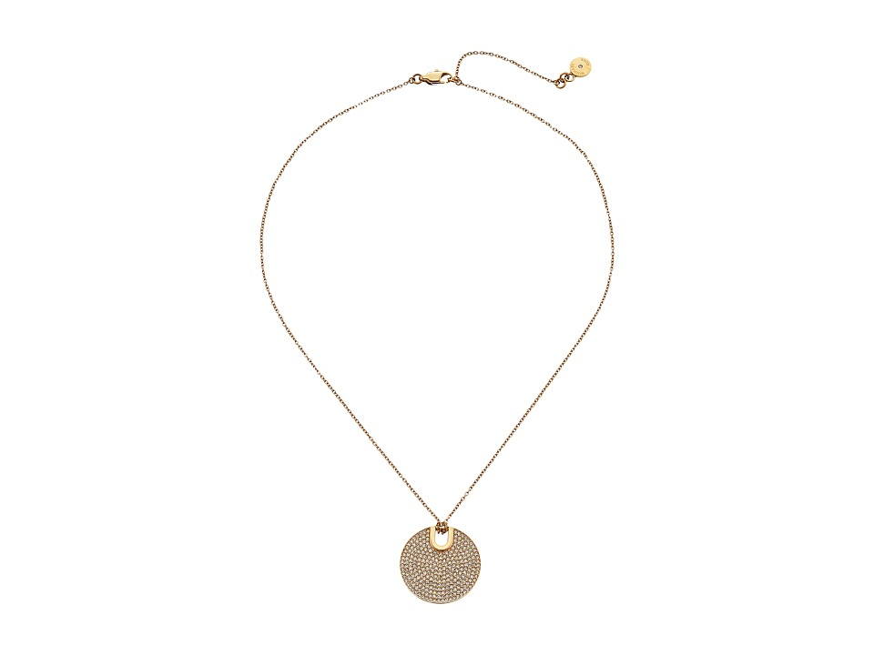 Michael Kors - Disc Pendant - Short Necklace (Gold) Necklace