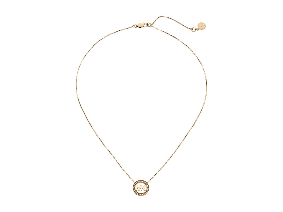 Michael Kors - Logo Pendant - Short Necklace (Gold) Necklace