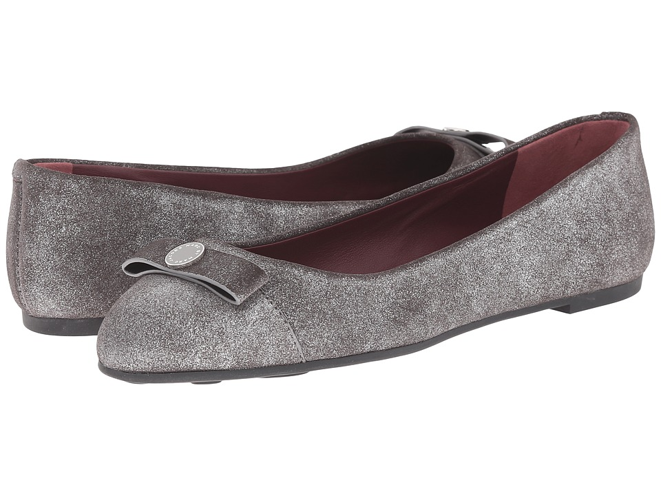 Marc by Marc Jacobs Tuxedo Logo Ballet Flat (Silver) Women