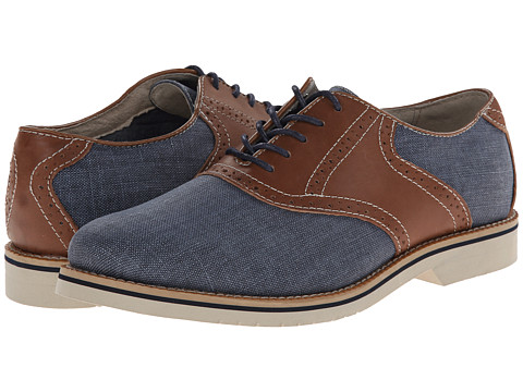 Bass - Carson (Navy/New Tan) Men's Lace up casual Shoes