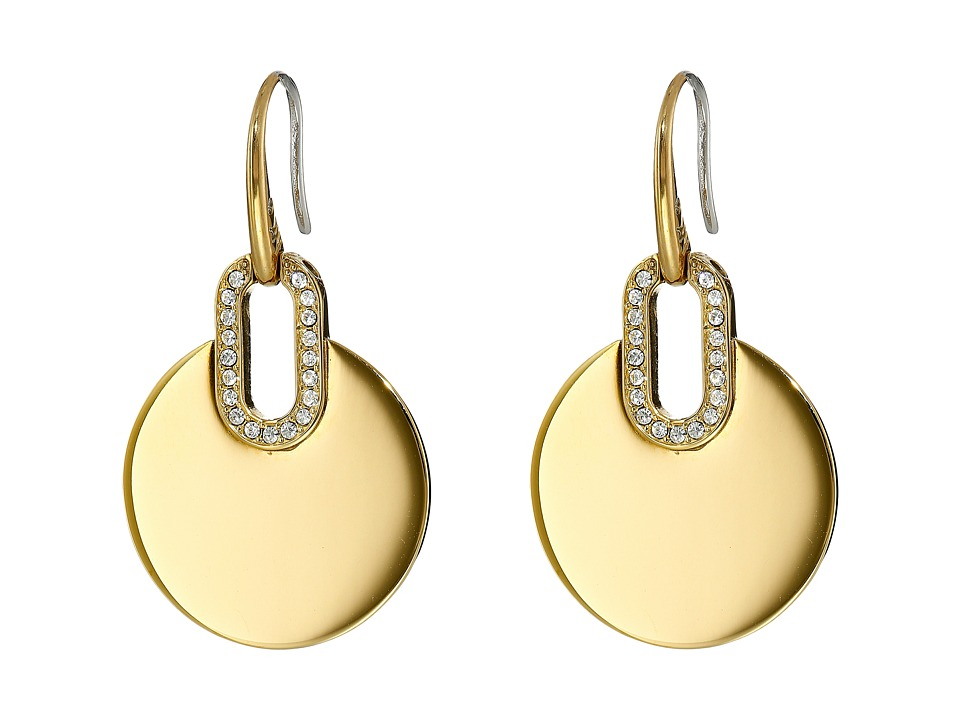 Michael Kors - Disc Drop Earrings (Gold) Earring