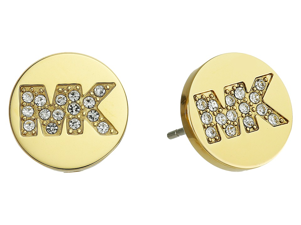 Michael Kors - Logo Stud Earrings (Gold) Earring