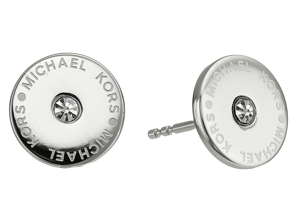 Michael Kors - Logo Stud Earrings (Silver 1) Earring