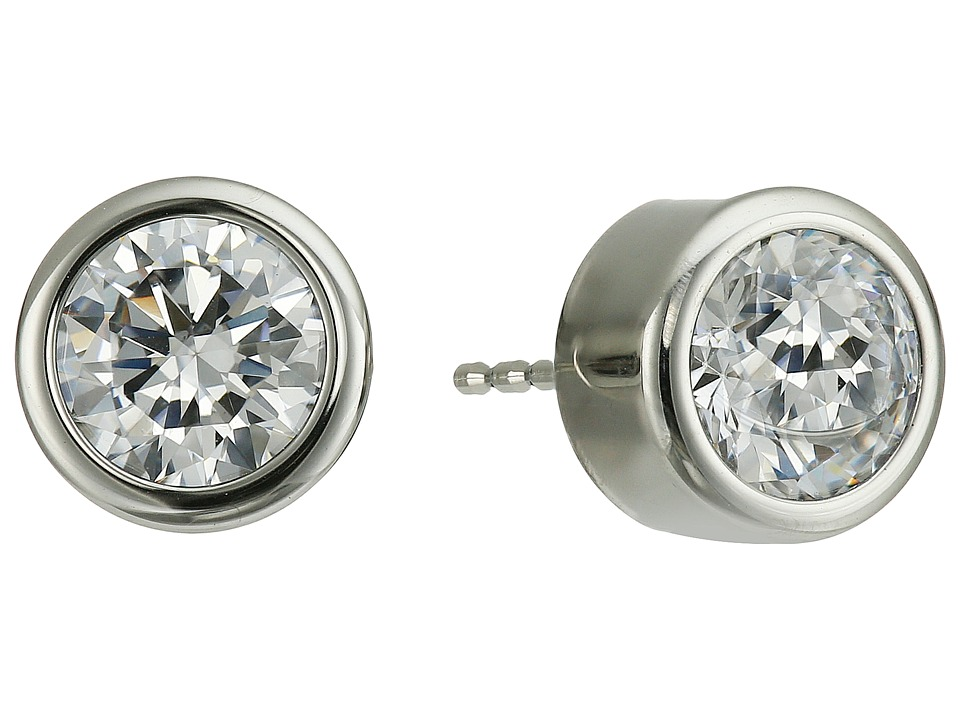 Michael Kors - Park Avenue Glam Stud Earrings (Silver 1) Earring