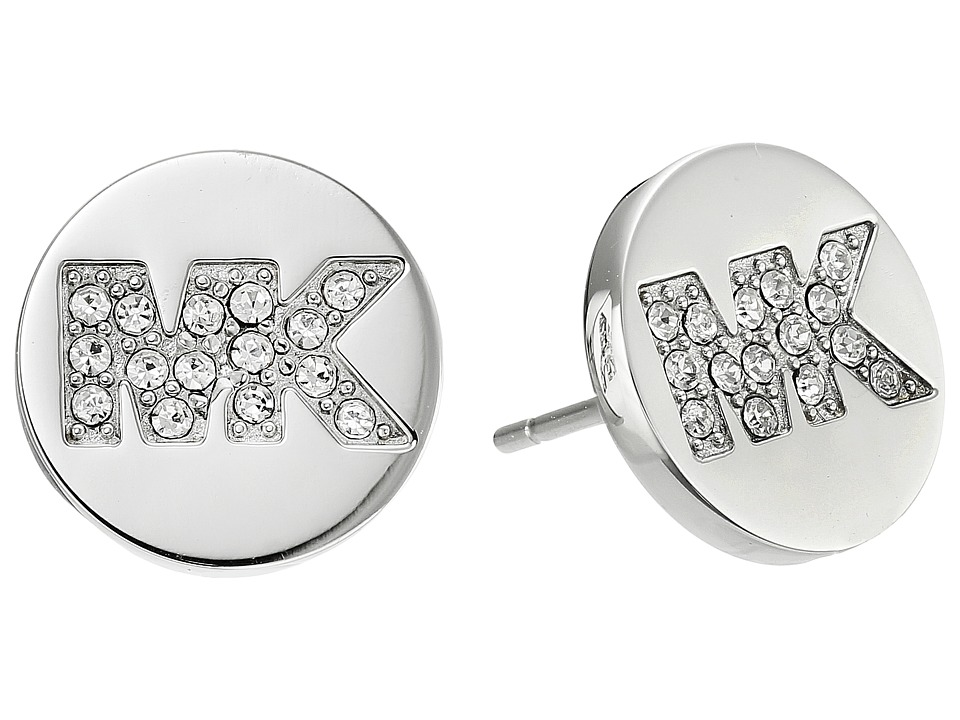Michael Kors - Logo Stud Earrings (Silver) Earring