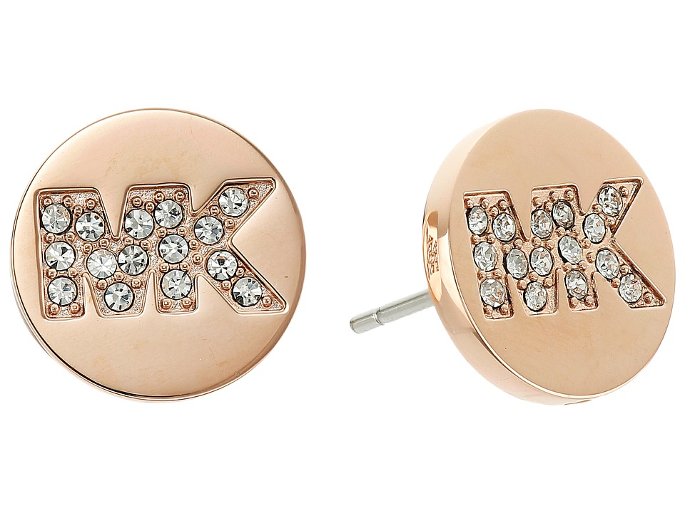 Michael Kors - Logo Stud Earrings (Rose Gold) Earring