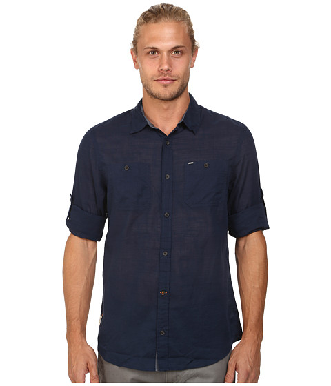 Buffalo David Bitton - Sierra Long Sleeve Shirt (Whale) Men's Long Sleeve Button Up