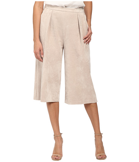 Calvin Klein - Pleated Suede Culotte (Latte) Women's Casual Pants