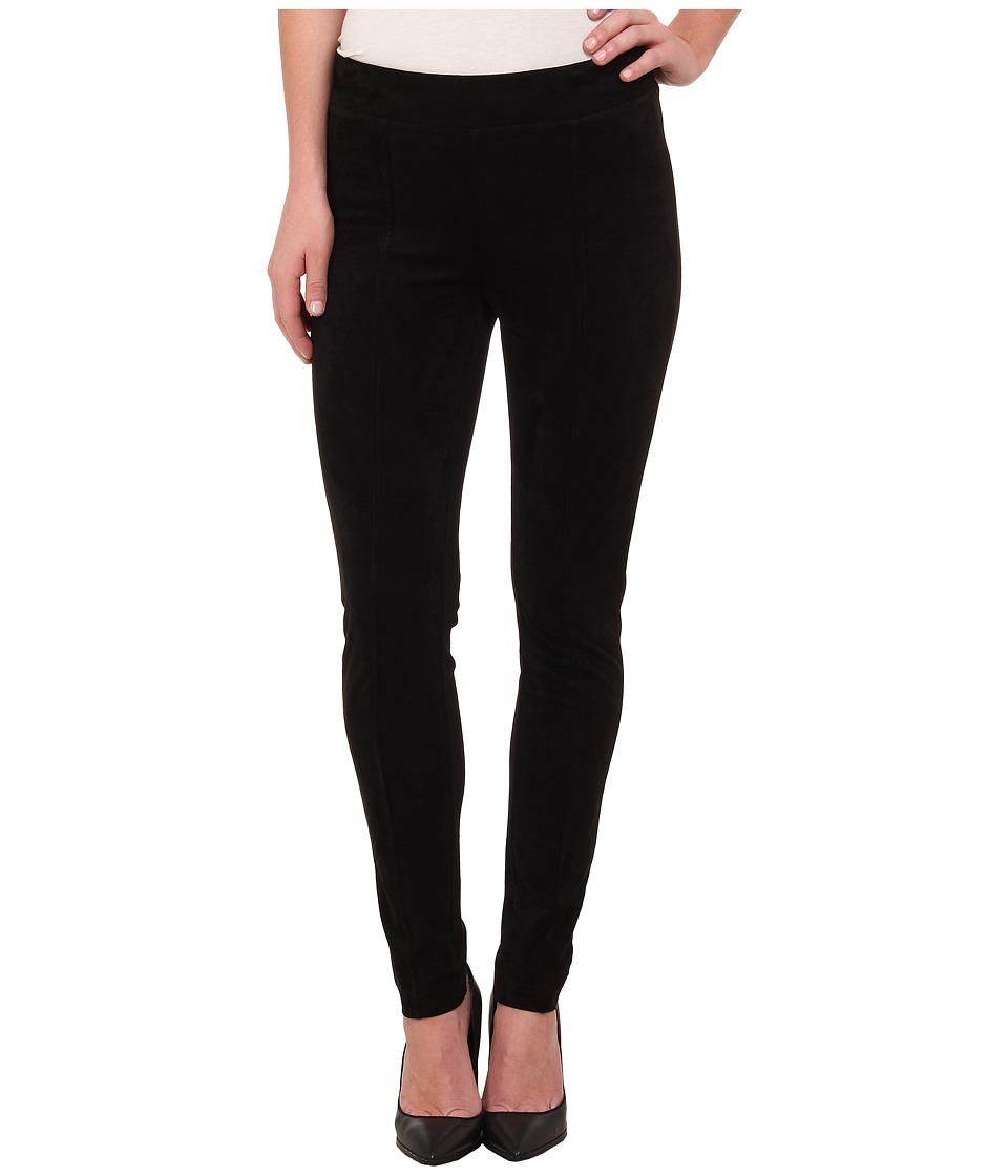 Calvin Klein - Suede Front Ponte (Black) Women's Casual Pants