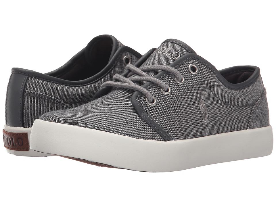 Polo Ralph Lauren Kids - Ethan Low (Little Kid) (Grey Chambray/Grey Trim) Boy's Shoes