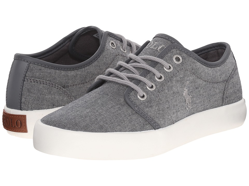 Polo Ralph Lauren Kids - Ethan Low (Big Kid) (Grey Chambray/Grey Trim) Kid's Shoes