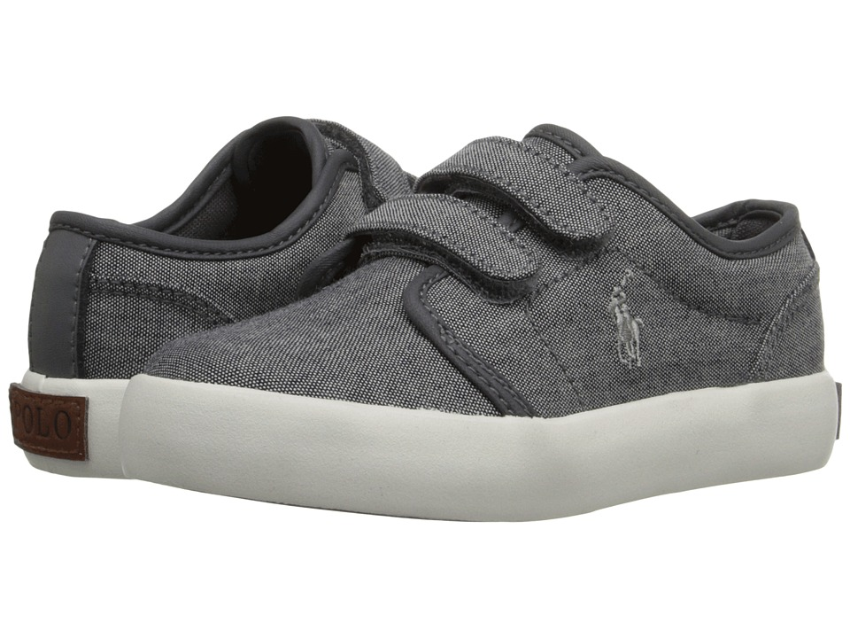 Polo Ralph Lauren Kids - Ethan Low EZ (Toddler) (Grey Chambray/Grey Trim) Kid's Shoes
