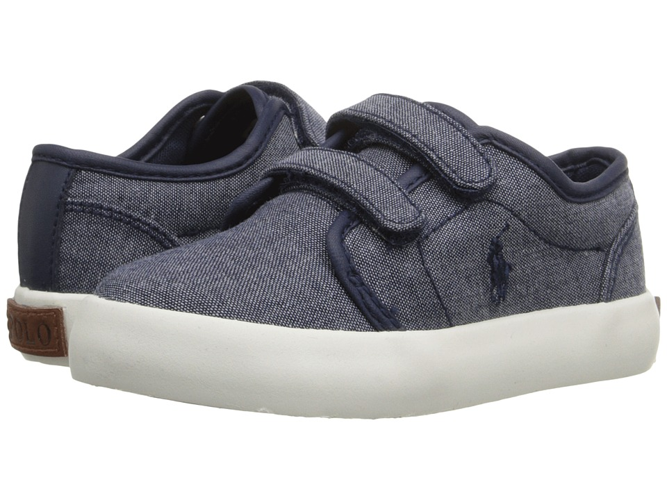 Polo Ralph Lauren Kids - Ethan Low EZ (Toddler) (Navy Chambray) Kid's Shoes