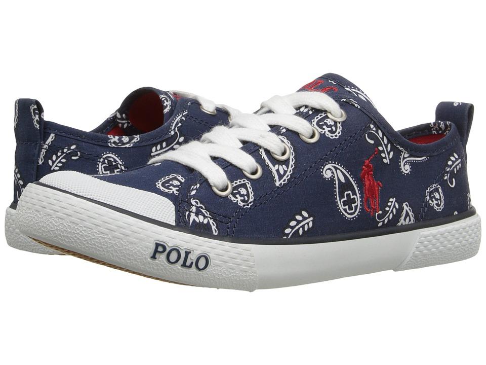 Polo Ralph Lauren Kids - Carlisle III (Little Kid) (Navy Bandana/Red) Kid's Shoes