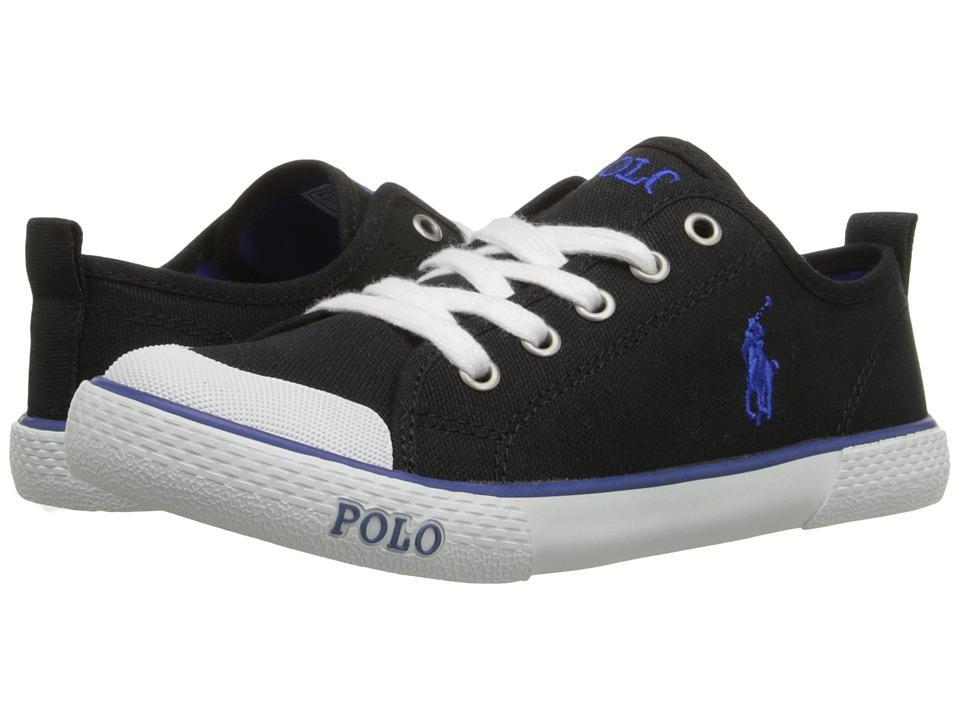 Polo Ralph Lauren Kids - Carlisle III (Little Kid) (Black Canvas/Royal) Kid's Shoes