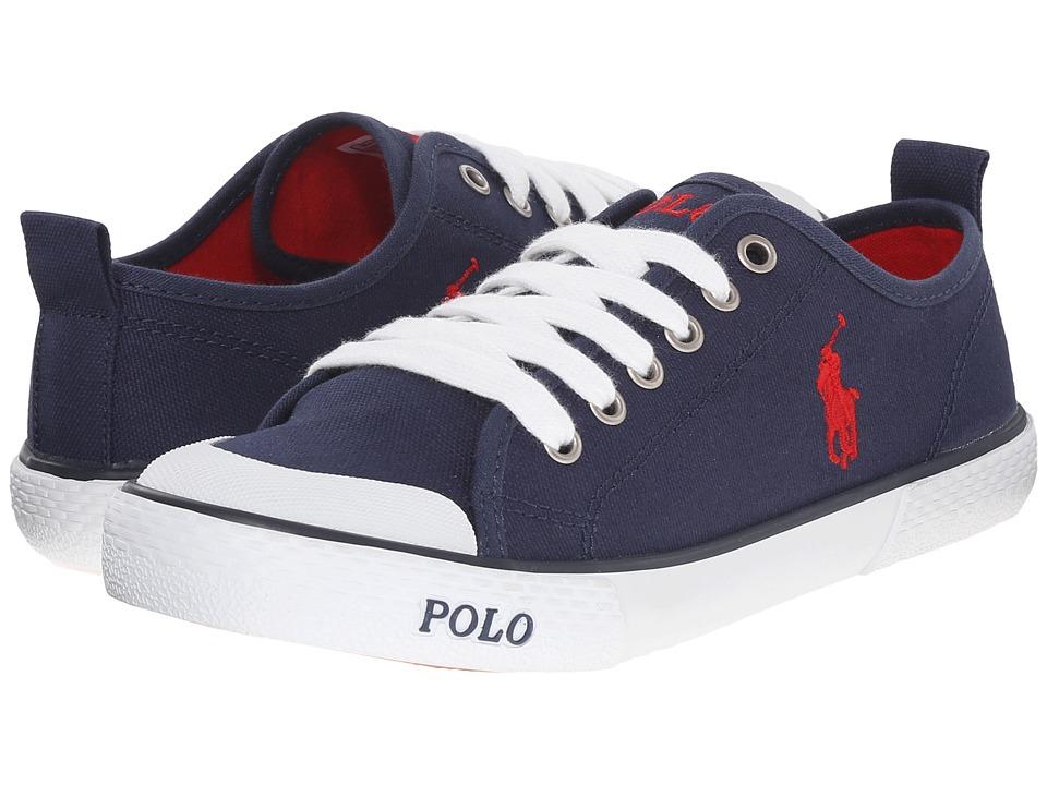 Polo Ralph Lauren Kids - Carlisle III (Big Kid) (Navy Canvas/Red) Kid's Shoes