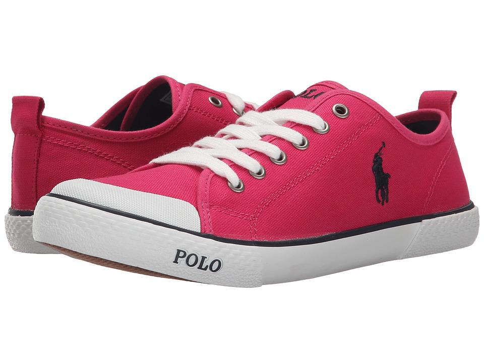 Polo Ralph Lauren Kids - Carlisle III (Big Kid) (Ultra Pink Canvas/Navy) Girl's Shoes